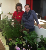 <h5>Leila Jackson (right) with plants for sale</h5>