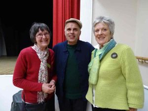 Fergus with Gabrielle Greveson and Heather Russell