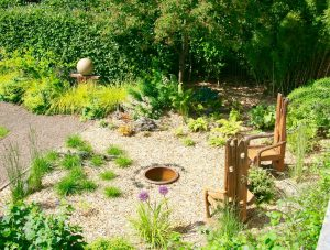 A newly graveled area in Heather's garden 2015